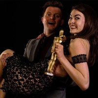 Olivia receiving the Best Actor 2016 award from Matt Flint