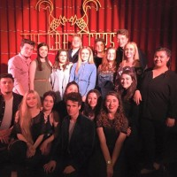Olivia with actors and musical theatre colleagues at a West End Showcase at Crazy Coqs, London in June 2016