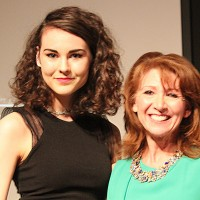Olivia with Bonnie Langford in Canterbury