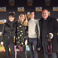 Olivia with fellow cast members at MCM London Comic Con